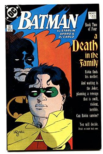 BATMAN #427 1988-comic book-DEATH IN THE FAMILY DC (Batman A Death In The Family 1988)