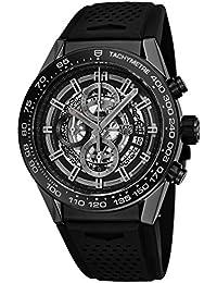 Carrera Calibre Heuer 01 Automatic Chronograph Ceramic Bezel Men's Watch CAR2A90.FT6071