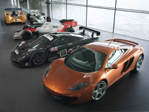 McLaren MP4-12C Car Art Poster Print on 10 mil Archival Sati