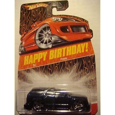 Hot Wheels Exclusive Happy Birthday Card Cadillac Escalade Dark Glitter Midnight Blue Pr5 wheels 1/64 2008 by Mattel: Toys & Games