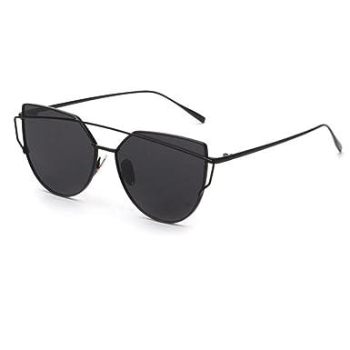 sunglasses  GAXUVI Fashion Twin-Beams Classic Women Metal Frame Mirror ...