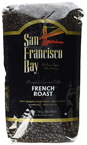 San Francisco Bay French Roast Fresh Whole Bean Coffee- 2 of 3 Lbs /6 Pounds (San Francisco Whole Bean Coffee)