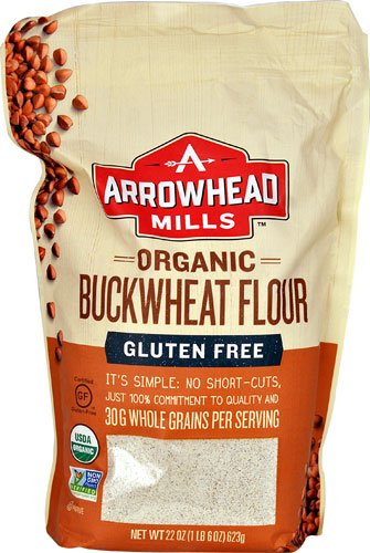 Arrowhead Mills Organic Buckwheat Flour Gluten Free -- 22 oz - 3PC