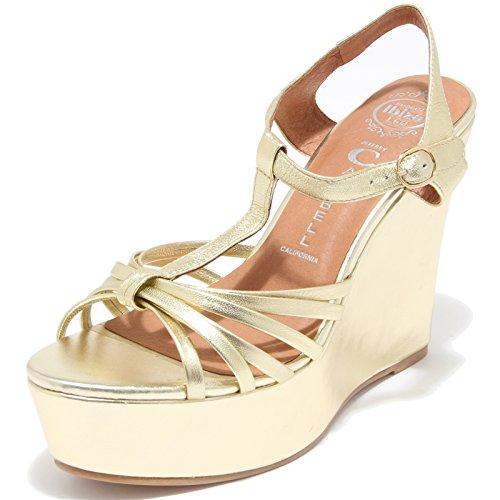 78257 sandalo JEFFREY CAMPBELL SWANSONG ZEPPA scarpa donna shoes women Oro