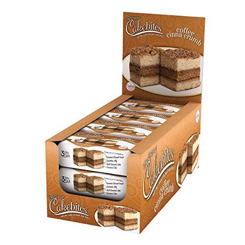 The Original Cakebites Coffee CinnaCrumb 12 Count  2 oz Units per box