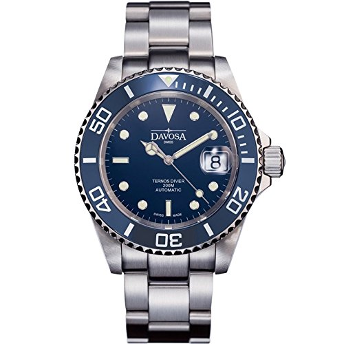 Davosa Swiss Made Dive Watch for Men - Ternos Ceramic Professional Automatic Watch with Analog Display and Luxury Bezel (16155540)
