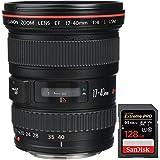 Canon 8806A002 EF 17-40mm F/4 L USM Lens + Sandisk Extreme PRO SDXC 128GB UHS-1 Memory Card