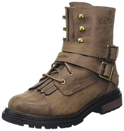 Marrón de Lacey Botas Brown Mujer Motorista Dog Rocket para Brown x0w6Tn