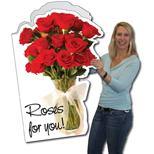 2'x3' Giant Roses for You Valentine's Day Card W/Envelope Sales