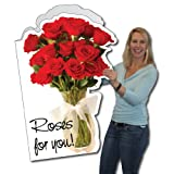 VictoryStore Jumbo Greeting Cards: Giant Valentine's Day Card (Roses), 2' x 3' card with envelope