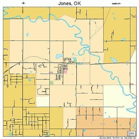 Amazon.com: Large Street & Road Map of Jones, Oklahoma OK ... on