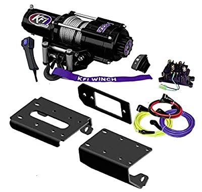 KFI Combo Kit - U45-R2 4500lbs Winch, 101305 Mount Bracket, Wiring, Switches, Remote - Can-Am Defender H5 / H8 / H10