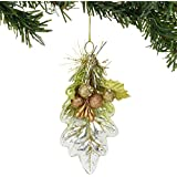 Department 56 Magnolia Garden Leaf and Berries Hanging Ornament, 4.6 Inch, Multicolor
