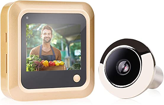 Home Video Door Eye Viewer 2.4in Infrared Smart Visual Digital Door Viewer Security Peephole Eye Monitoring Camera