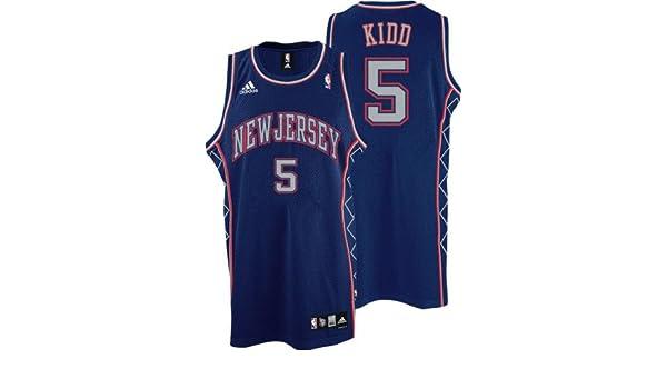 e34db2661e20 ... Amazon.com Jason Kidd Jersey adidas Blue Swingman 5 New Jersey Nets  Jersey - Large ...