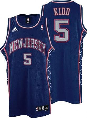 ... Mens Adidas Phoenix Suns 32 Jason Kidd Authentic White Home NBA Jersey  Jason Kidd Jersey adidas Blue Swingman 5 New Jersey Nets Jersey - Large ... 911a784b3