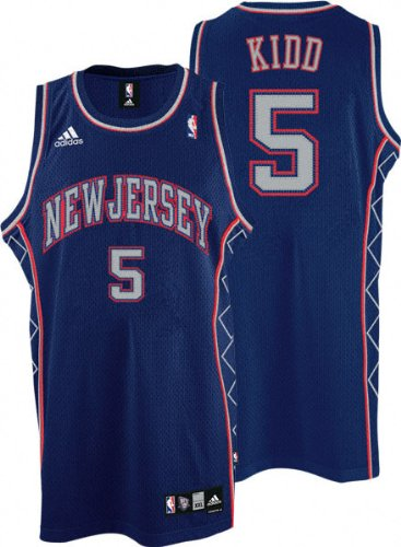 best sneakers e9feb 29d73 Amazon.com: Jason Kidd Jersey: adidas Blue Swingman #5 New ...