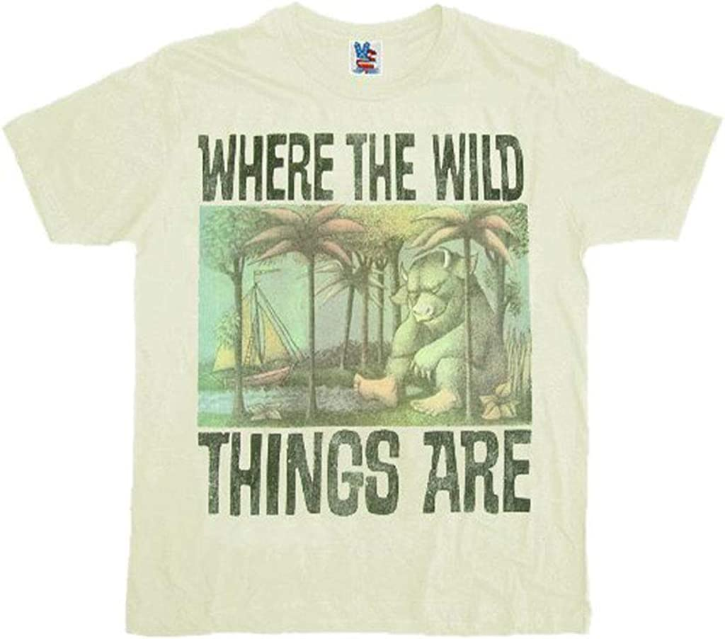 Junk Food Where The Wild Things are Cream Mens T-Shirt Tee