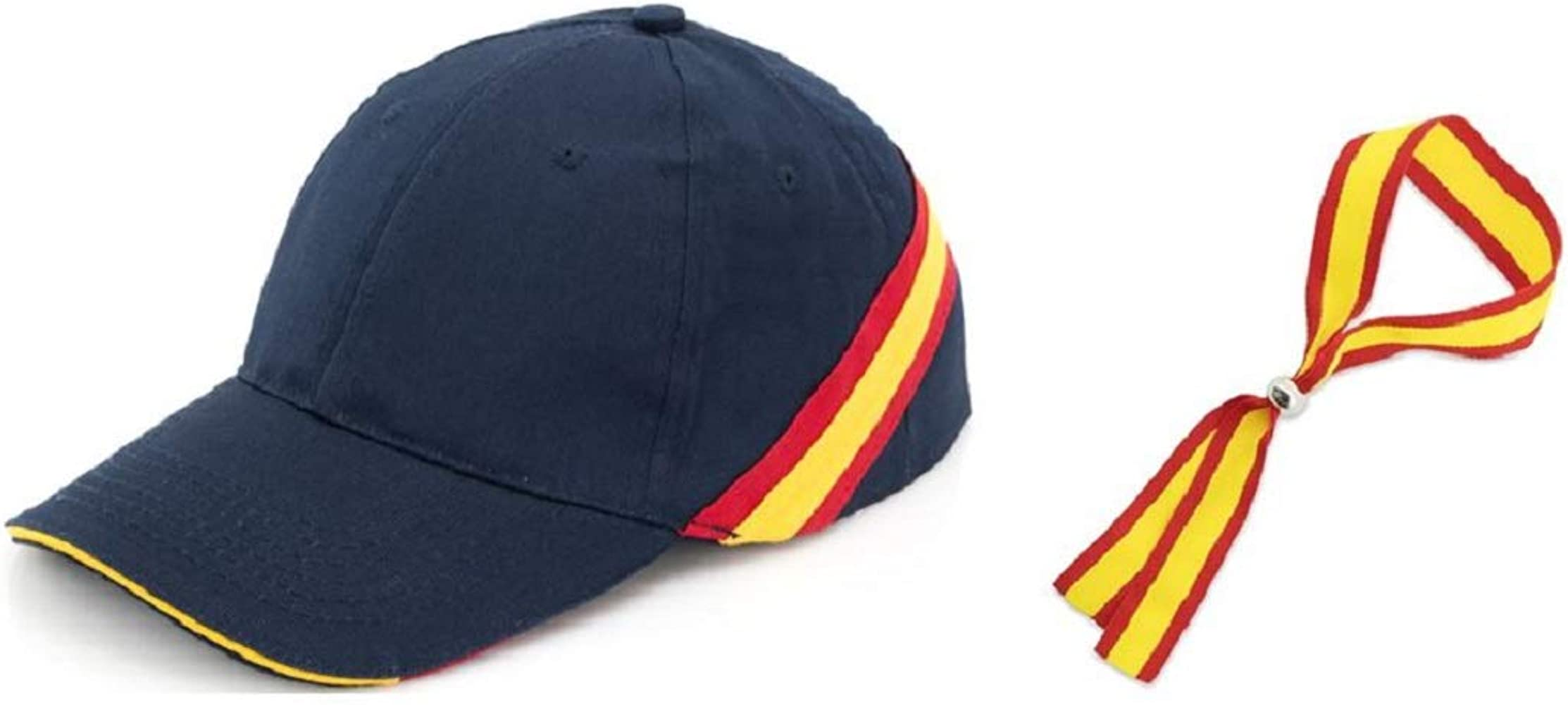 crisandecor Gorra Azul Bandera ESPAÑA con Regalo Pulsera ESPAÑA: Amazon.es: Ropa y accesorios
