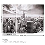 excellent city wall mural City Skyline Empire State New York Wall Mural Photo Wallpaper Room Décor (2318WS)