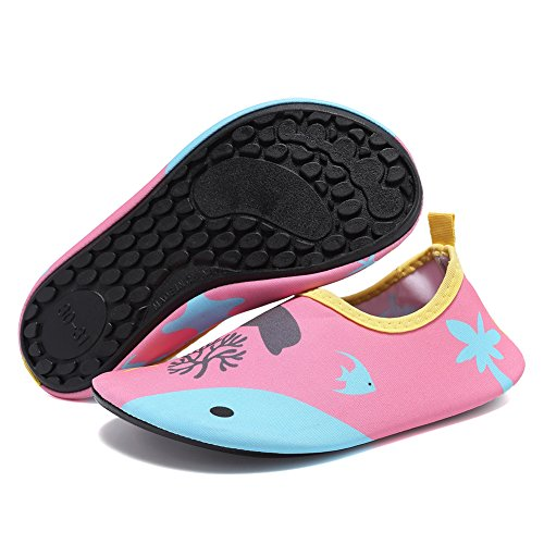 CIOR Men Women and Kids Quick-Dry Water Shoes Lightweight Aqua Socks For Beach Pool Surf Yoga Exercise Dolphin Kd5Qitq9