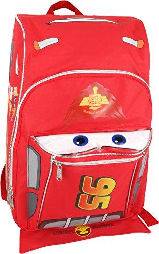 "16"" Disney Pixar Cars Lightning Mcqueen Backpack-tote-bag-sc"