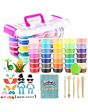 Air Dry Clay, 36 Colors Ultra Light Air Dry Clay Set for Kids, DIY Modeling Clay with Tools Starter Kit, Model Craft Accessories, Model Book in Storage Box, Educational Creative Magic Clay Art Set Gift for Boys Girls