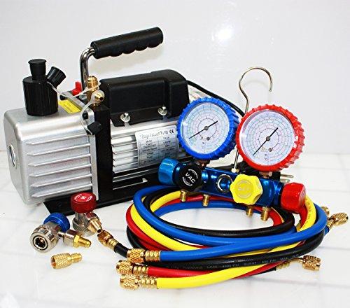 R410A R134A R22 4.8 CFM Vacuum Pump HVAC A/C Refrigerant ...