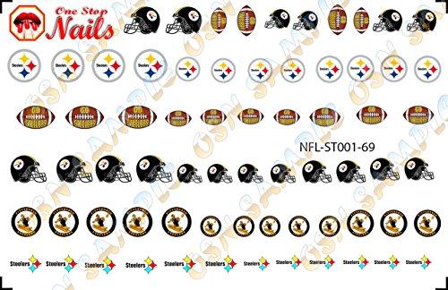 Pittsburgh Steelers Waterslide nail decals (Tattoos) V1 (Set of 69) -