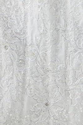 Organza Oleg Cassini Strapless Ruffled Skirt Wedding Dress Style CWG568