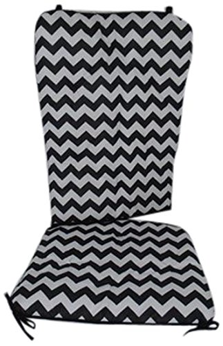 sneakers for cheap d63bd 4a0f9 Baby Doll Bedding Chevron Rocking Chair Pad, Black