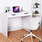 Tangkula Writing Computer Desk Modern Home Office Desk W/Bluetooth Speakers Drawer USB Charging Ports for Tablets Workstation Laptop Table Furniture