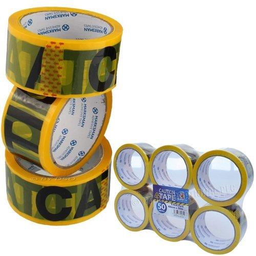 """avvertimento di pericolo 6/rotoli di nastro con scritta /""""CAUTION/"""" in PVC per barriere 48/mm x 50/m misure"""
