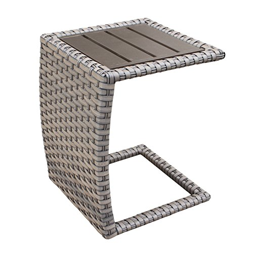 - TK Classics Florence Outdoor Wicker Patio Side Table