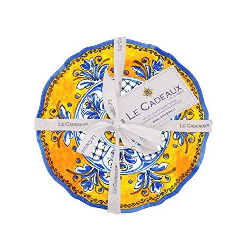 Le Cadeaux Benidorm Appetizer Plate (Set of 4), Multicolor - Italian Pottery
