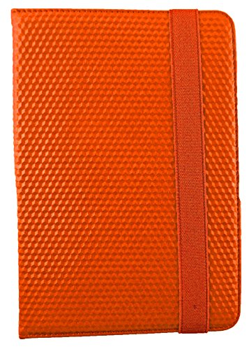 Emartbuy® Odys Syno 8 Pulgadas Tableta PC Rango universal Verde Rose Garden PU Leather Cubierta de la caja de la carpeta Multi Angle Ejecutivo Folio Con ranuras para tarjetas + Hot Rosa Doble Función  Naranja 3D Cubo Executive Folio
