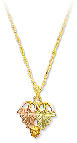 Amazon 10k black hills gold necklace from landstroms 10k gold 10k black hills gold necklace from landstroms10k gold grapes12k gold leaves aloadofball Choice Image
