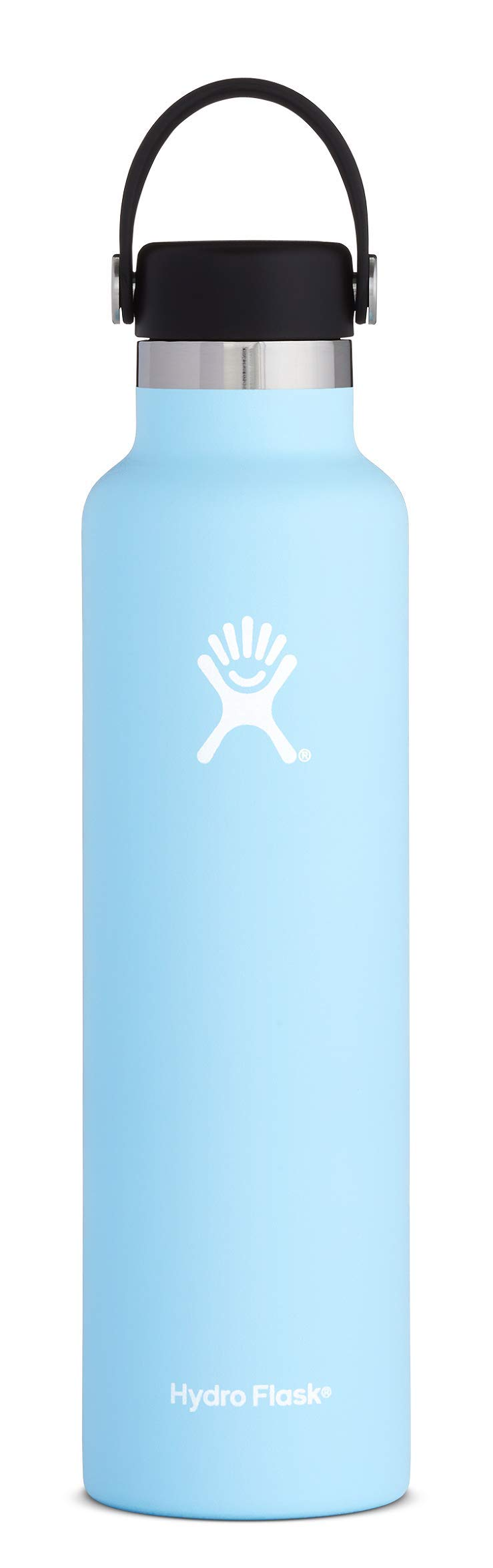 Hydro Flask Water Bottle - Stainless Steel & Vacuum Insulated - Standard Mouth with Leak Proof Flex Cap - 24 oz, Frost by Hydro Flask