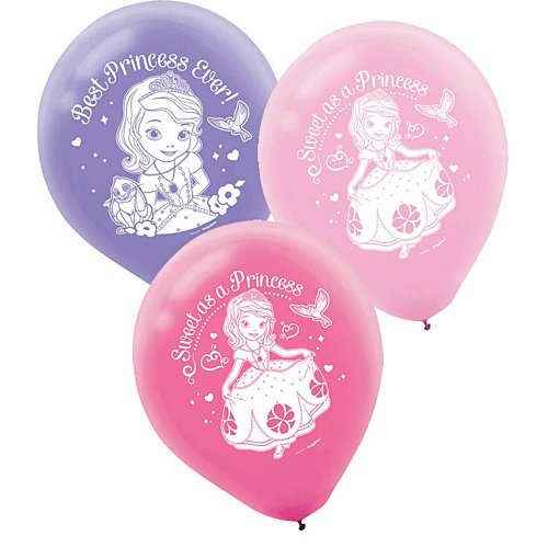 "Amscan AM-111351 Disney Sofia Printed Princess Birthday Latex Balloons Decoration Party Supplies, 12"", -"