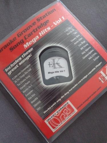 Easy Karaoke Microhpone Groove Station Cartridge Mega Hits Volume Vol 1