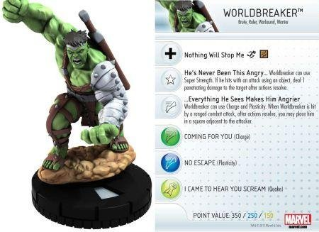 Wizkids Heroclix Marvel 10th Anniversary #13 Worldbreaker Hulk Figure with Card by WizKids