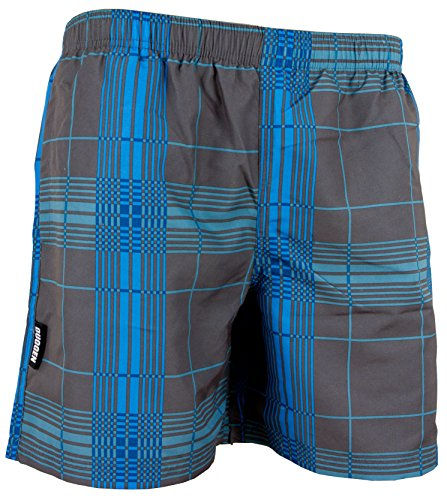 GUGGEN Men's swimming trunks swim shorts checked *different colours* Colour Grey XL