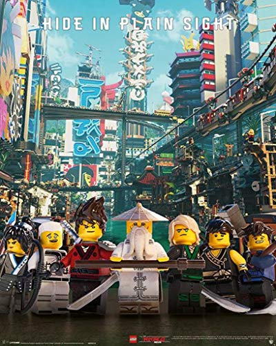 Pyramid International LEGOÂ Ninjago Movie (Hide in Plain Sight) - Mini Poster 40 x 50cm, Plastic/Glass, Multi-Colour, 40 x 50 x 1.3 cm ()