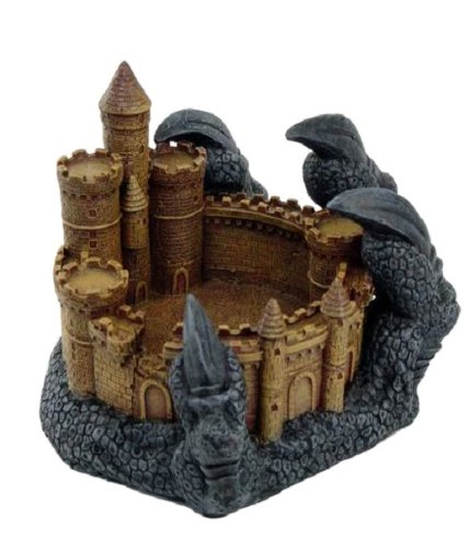 Dragon Claws Grasping Castle Ashtray Resin Figurine
