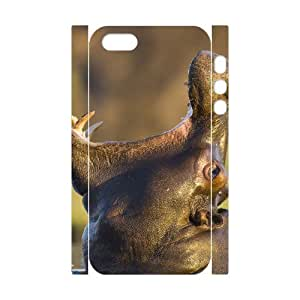 3D Bumper Plastic Customized Case Of Hippo for iPhone 5,5S wangjiang maoyi