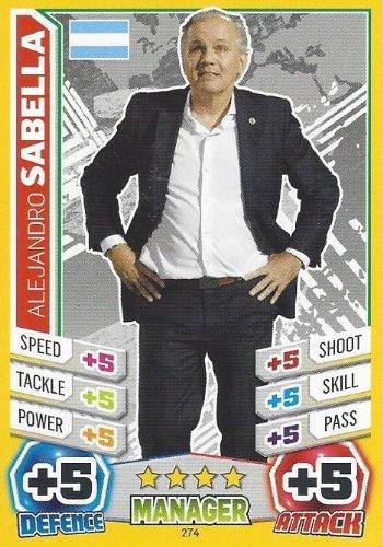 Match Attax England World Cup 2014 Alejandro Sabella Argentina Manager