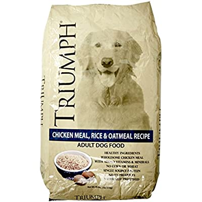 Triumph Chicken Meal Rice and Oatmeal Dry Dog Food