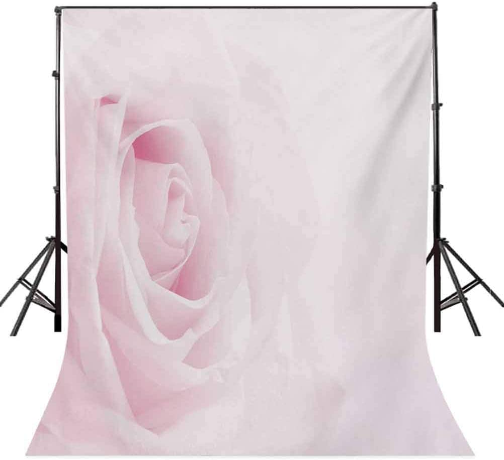 Rose 6.5x10 FT Photo Backdrops,Pink Rose Close Up with Soft Blur Focus Fresh Fragrance Smell Love Valentines Day Background for Baby Shower Birthday Wedding Bridal Shower Party Decoration Photo Studio