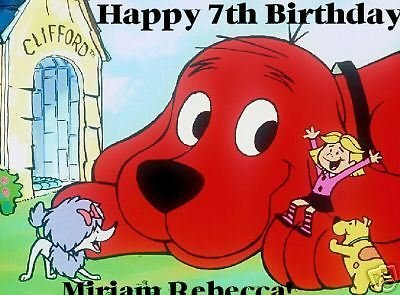 Clifford the big red dog edible cake image cake topper birthday