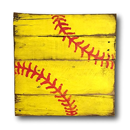 Softball Sign / Vintage Wood Sports Sign / Sports Decor / Vintage Softabll Decor